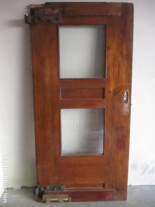 Antigüedades: Antigua Puerta, Portón - Madera de Pino - Cristal - Ancho 107 cm - Altura - 220,5 cm - S. XIX - Foto 18 - 146906730