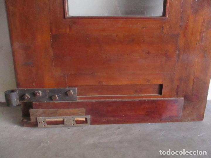 Antigüedades: Antigua Puerta, Portón - Madera de Pino - Cristal - Ancho 107 cm - Altura - 220,5 cm - S. XIX - Foto 19 - 146906730
