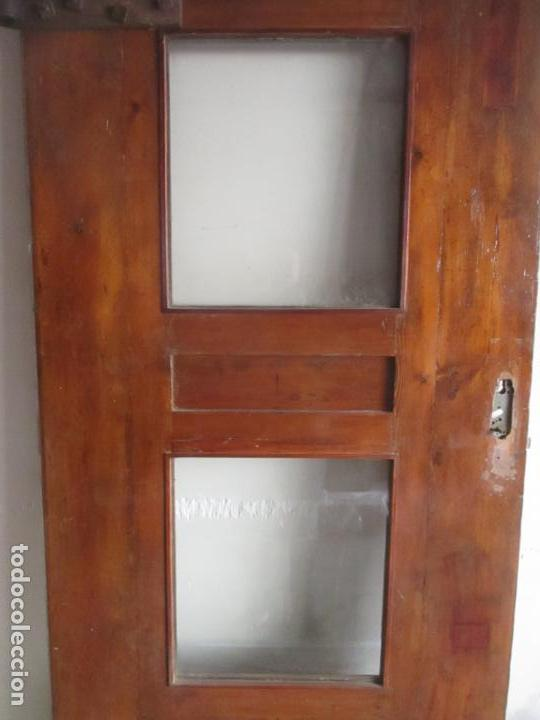 Antigüedades: Antigua Puerta, Portón - Madera de Pino - Cristal - Ancho 107 cm - Altura - 220,5 cm - S. XIX - Foto 22 - 146906730