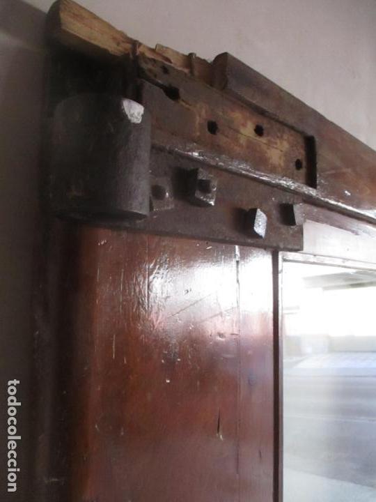 Antigüedades: Antigua Puerta, Portón - Madera de Pino - Cristal - Ancho 107 cm - Altura - 220,5 cm - S. XIX - Foto 26 - 146906730