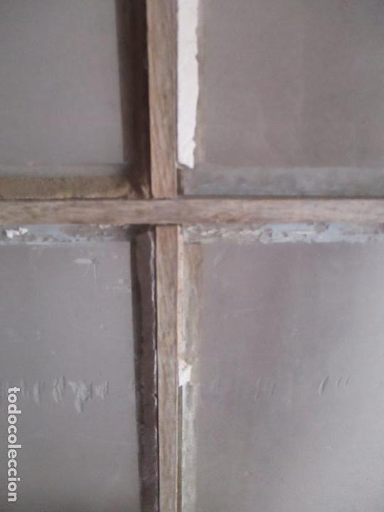 Antigüedades: Antigua Puerta - Madera de Pino - Cristal - Ancho 99 cm - Altura - 224,5 cm - S. XIX - Foto 5 - 146907522