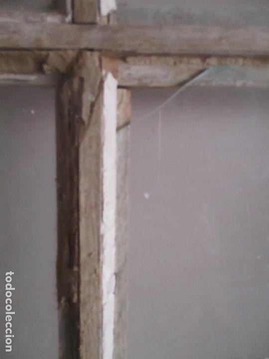 Antigüedades: Antigua Puerta - Madera de Pino - Cristal - Ancho 99 cm - Altura - 224,5 cm - S. XIX - Foto 6 - 146907522