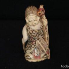 Antigüedades: MARFIL JAPONÉS ÉPOCA MEIJI S.XIX. Lote 146911098