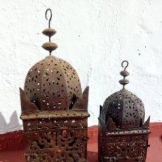 Antiquitäten - Bonita pareja de faroles para suelo o techo. Hierro. - 146931578