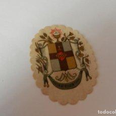 Antigüedades: ESCAPULARIO DETENTE .. EL SAGRADO CORAZÓN ESTÁ CONMIGO ... 7 CM.. Lote 146934706
