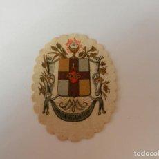 Antigüedades: ESCAPULARIO DETENTE .. EL SAGRADO CORAZÓN ESTÁ CONMIGO ... 7 CM.. Lote 146935062