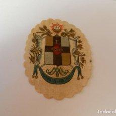 Antigüedades: ESCAPULARIO DETENTE .. EL SAGRADO CORAZÓN ESTÁ CONMIGO ... 7 CM.. Lote 146935526