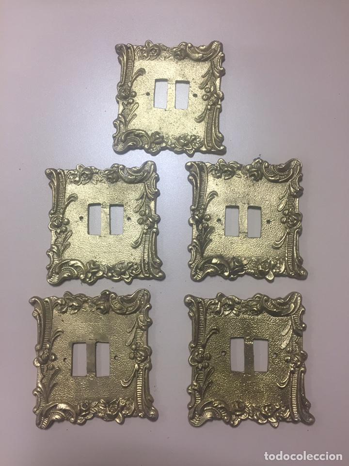 LOTE CINCO APLIQUES DE PARED (Antigüedades - Iluminación - Apliques Antiguos)