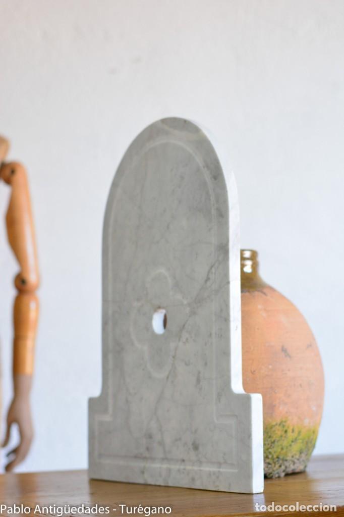 Antigüedades: Frontal realizado en mármol blanco para fuente o lavabo - Adorno, ornamento, cubierta, copete, flor. - Foto 8 - 146960822