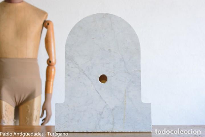 Antigüedades: Frontal realizado en mármol blanco para fuente o lavabo - Adorno, ornamento, cubierta, copete, flor. - Foto 10 - 146960822