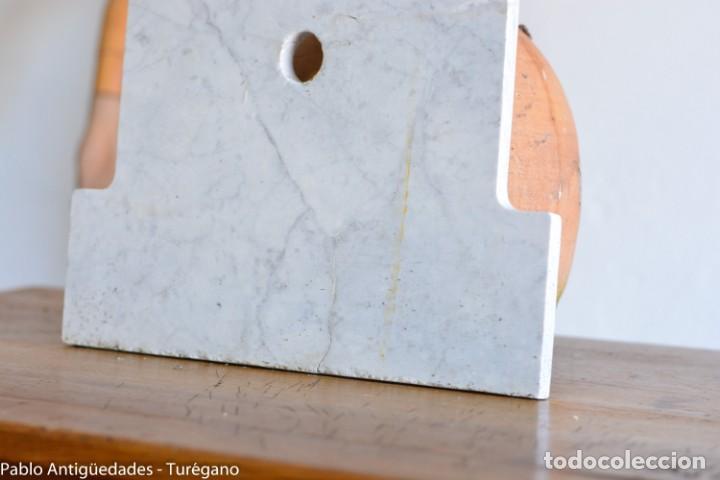 Antigüedades: Frontal realizado en mármol blanco para fuente o lavabo - Adorno, ornamento, cubierta, copete, flor. - Foto 11 - 146960822