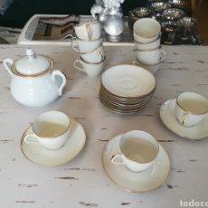 Antigüedades: JUEGO CAFÉ LIMOGES. Lote 146965789