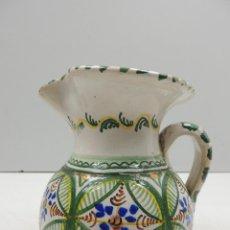 Antigüedades: BONITA JARRA EN CERAMICA DE PUENTE DEL ARZOBISPO PRECIOSOS COLORES . Lote 146978646