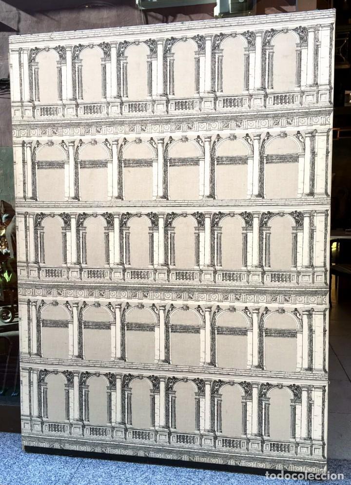 PANEL FORNASETTI ORIGINAL DE GRANDES DIMENSIONES. AÑOS 50 , 60 (Antigüedades - Hogar y Decoración - Otros)