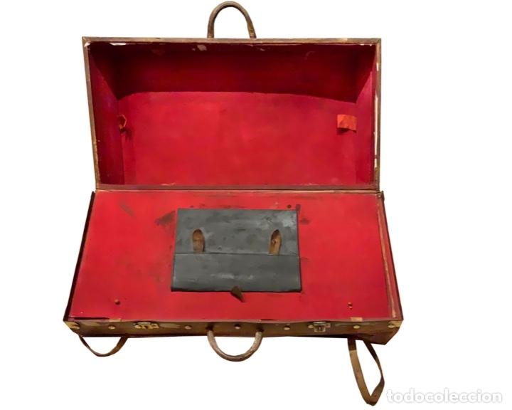 Antigüedades: maravillosa maleta antigua de cuero,Unica en todocolección, le soleil. - Foto 3 - 146983282