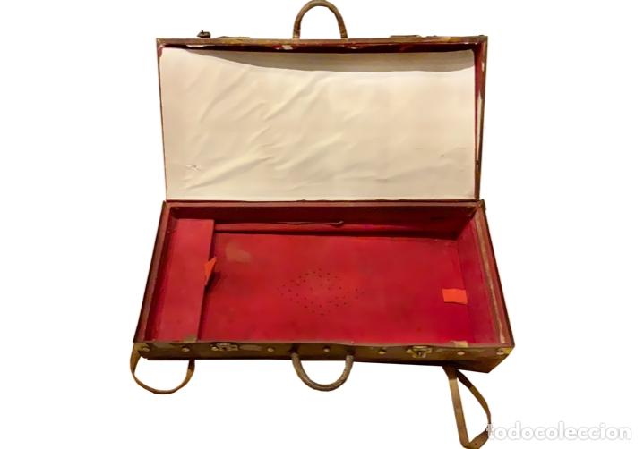 Antigüedades: maravillosa maleta antigua de cuero,Unica en todocolección, le soleil. - Foto 4 - 146983282