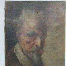 Antigüedades: ANTIGUO RETRATO - PINTURA AL ÓLEO SOBRE TELA, FIGURA - S. XIX. Lote 146991382