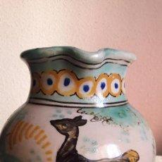 Antigüedades: JARRA CERAMICA ANTIGUA PUENTE ARZOBISPO ( TOLEDO ) CON MARCA .. Lote 147001622