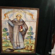 Antigüedades: PANEL DE AZULEJOS SANTO. Lote 147012078