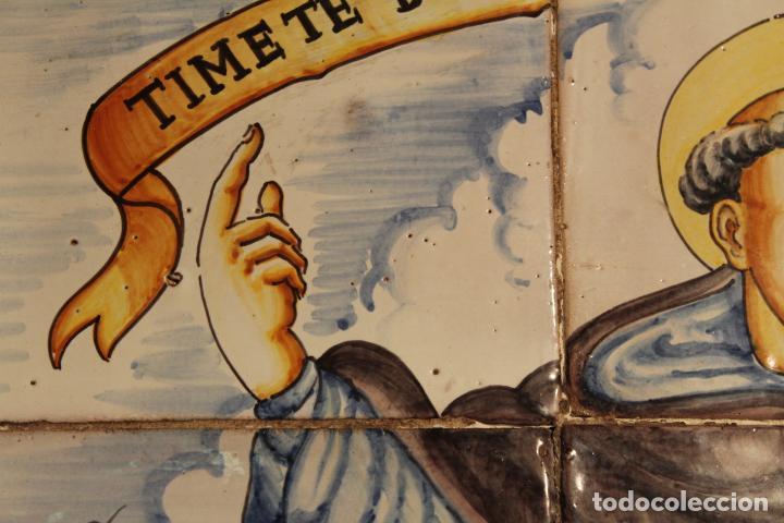 Antigüedades: PANEL DE AZULEJOS SANTO - Foto 2 - 147012078