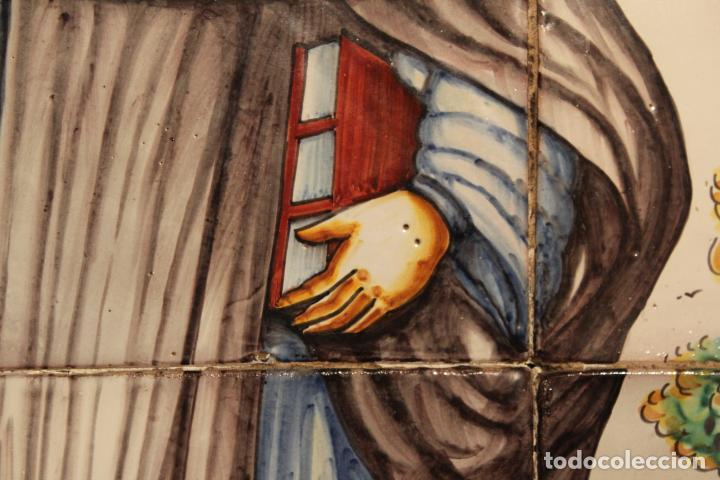 Antigüedades: PANEL DE AZULEJOS SANTO - Foto 5 - 147012078