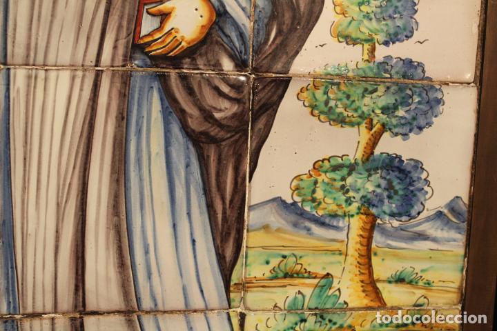 Antigüedades: PANEL DE AZULEJOS SANTO - Foto 6 - 147012078