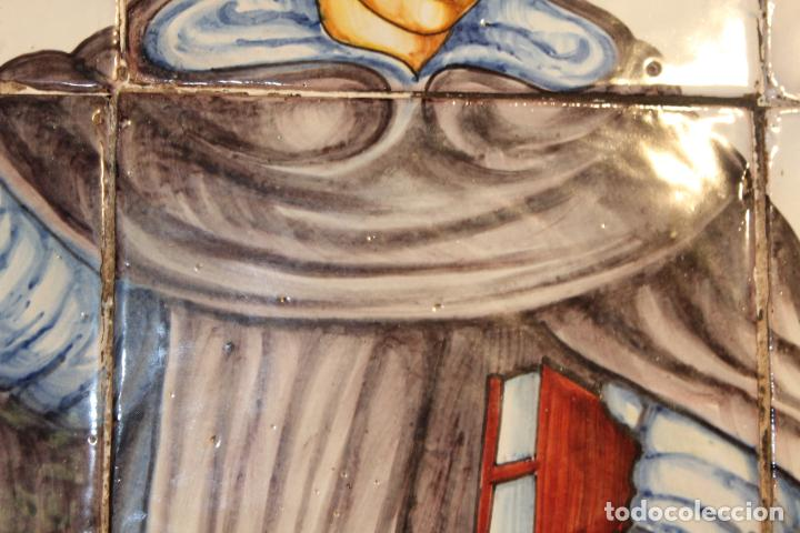 Antigüedades: PANEL DE AZULEJOS SANTO - Foto 7 - 147012078
