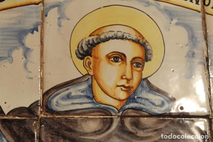 Antigüedades: PANEL DE AZULEJOS SANTO - Foto 8 - 147012078