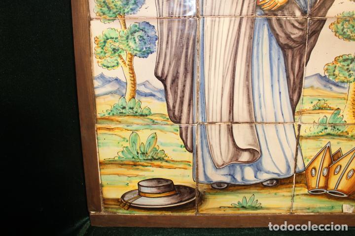 Antigüedades: PANEL DE AZULEJOS SANTO - Foto 11 - 147012078