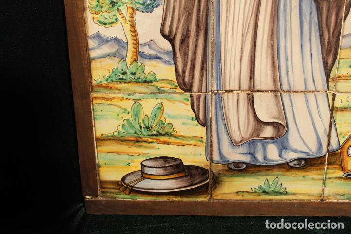 Antigüedades: PANEL DE AZULEJOS SANTO - Foto 16 - 147012078