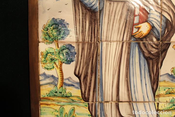 Antigüedades: PANEL DE AZULEJOS SANTO - Foto 17 - 147012078