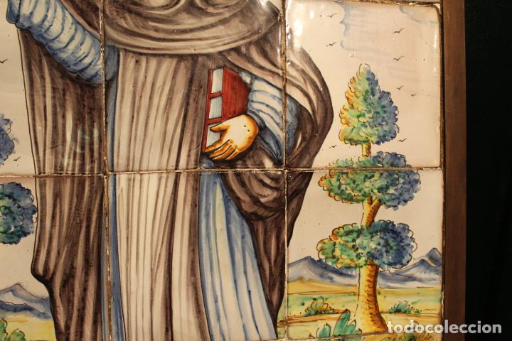 Antigüedades: PANEL DE AZULEJOS SANTO - Foto 18 - 147012078