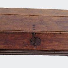 Antigüedades: ARCA-ARCÓN-BAÚL ANTIGUO CON LLAVE. Lote 117446079