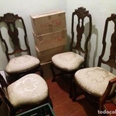 Antigüedades: CONJUNTO 6 SILLAS REINA ANA. ANTIGUAS XIX.. Lote 147033530