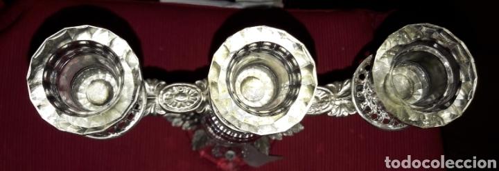 Antigüedades: Candelabro italiano de cristal Swarovski, plata 800 de diseño. Nuevo con garantía - Foto 4 - 147034813