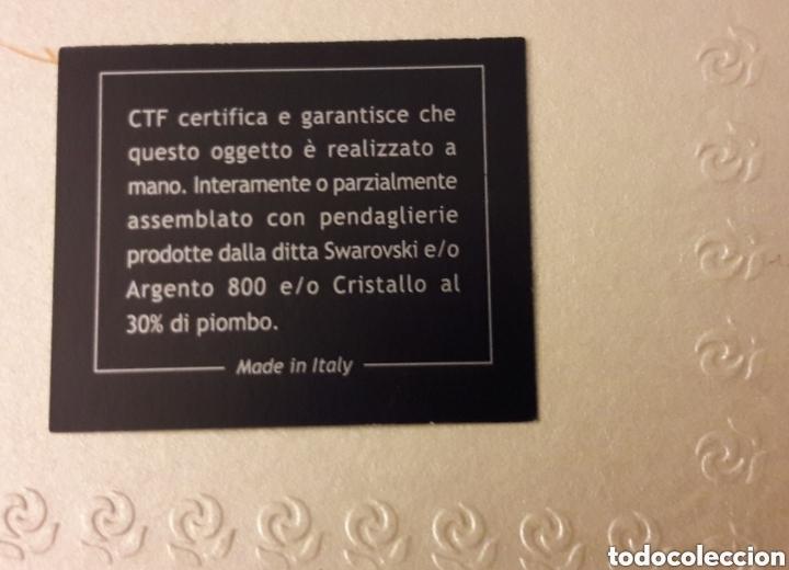 Antigüedades: Candelabro italiano de cristal Swarovski, plata 800 de diseño. Nuevo con garantía - Foto 6 - 147034813