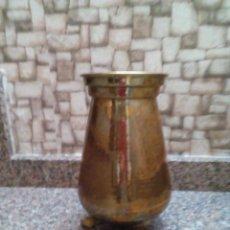 Antigüedades: JARRON DE LATON Y BRONCE. Lote 147052130