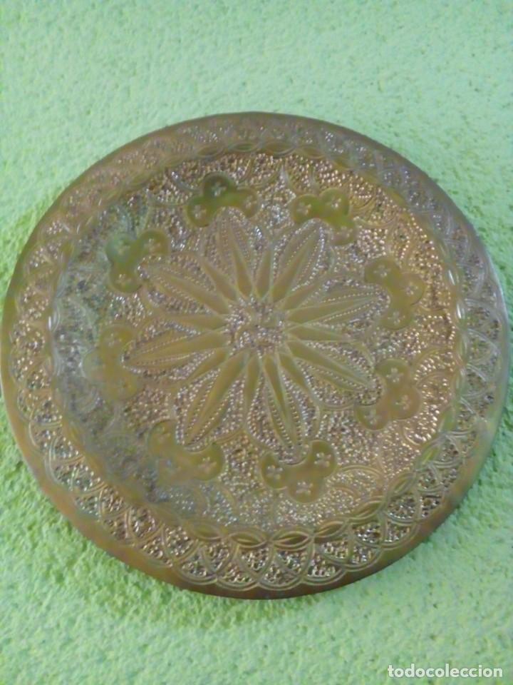 Antigüedades: PLATO DE BRONCE 20 CM - Foto 2 - 147056282