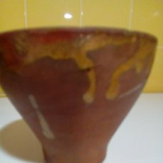 Antigüedades: ANTIGUO MORTERO GRANDE DE BARRO. Lote 147065834