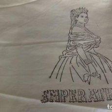 Antigüedades: ANTIGUO CORTE DE TELA DE FINO Y BUEN ALGODON, AMARILLO CLARO, PARA SABANA Y FUNDA.. Lote 147071074