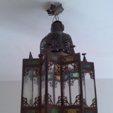 Antigüedades: BELLA LAMPARA MARROQUI. Lote 147071170