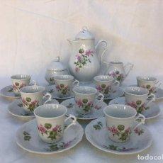 Antigüedades: JUEGO DE CAFE EN PORCELANA FRANCESA. Lote 147075646