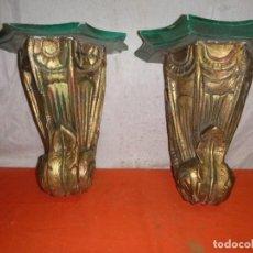 Antigüedades: MENSULAS POLICROMADAS. Lote 147082346