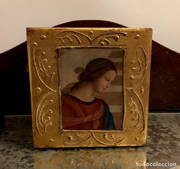 ANTIGUA CAJA - JOYERO BARROCA ITALIANA MADERA Y PAN DE ORO. (Antigüedades - Hogar y Decoración - Cajas Antiguas)