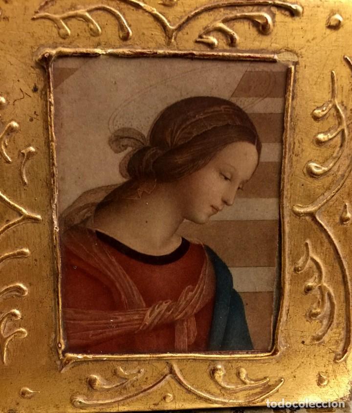 Antigüedades: ANTIGUA CAJA - JOYERO BARROCA ITALIANA MADERA Y PAN DE ORO. - Foto 4 - 147083814