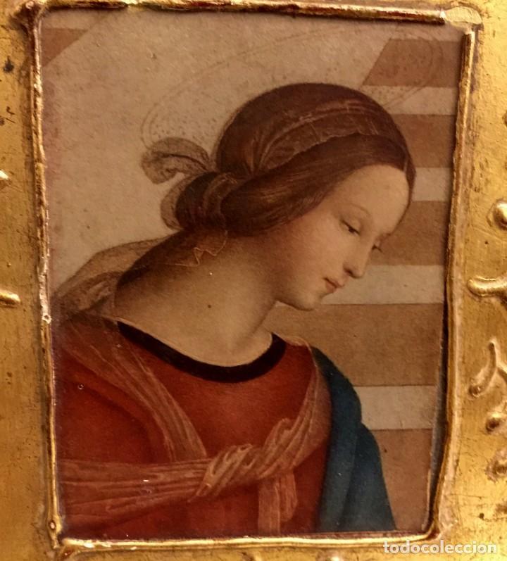 Antigüedades: ANTIGUA CAJA - JOYERO BARROCA ITALIANA MADERA Y PAN DE ORO. - Foto 8 - 147083814