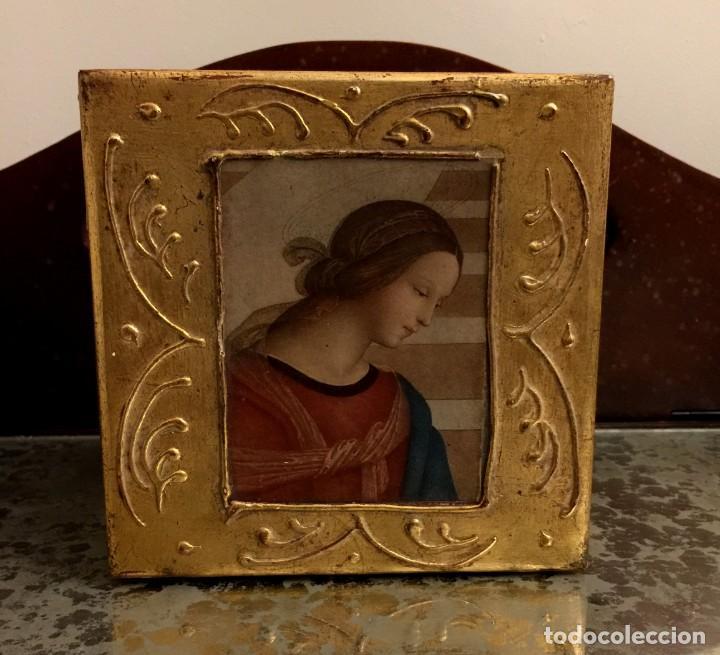 Antigüedades: ANTIGUA CAJA - JOYERO BARROCA ITALIANA MADERA Y PAN DE ORO. - Foto 10 - 147083814