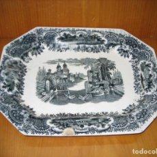 Antigüedades: ANTIGUA BANDEJA DE CARTUJA. Lote 147086474