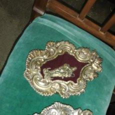 Antigüedades: PAREJA DE RELICARIOS PLATEADAS. Lote 147112814