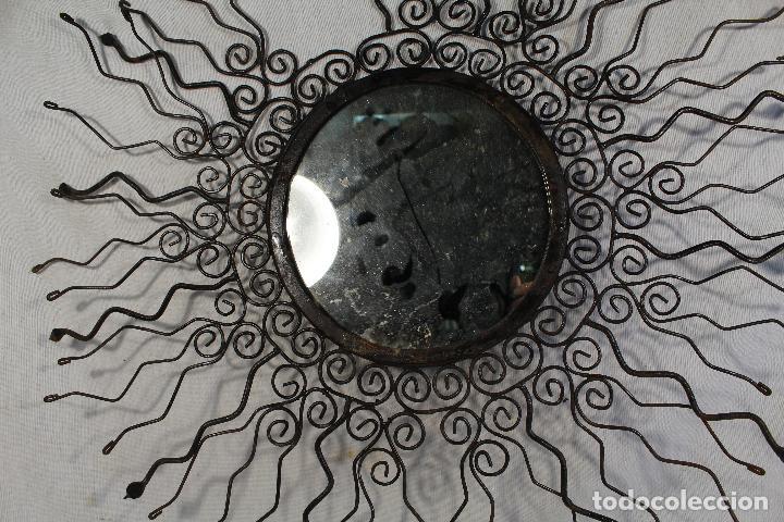 Antigüedades: espejo de sol en hierro de forja - Foto 2 - 147122062